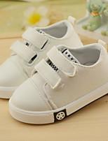 Girls' Sneakers Spring Fall Comfort PU Casual Flat Heel Black White