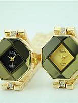 Mulheres Relógio de Moda Relógio de Pulso Quartzo Lega Banda Casual Dourada