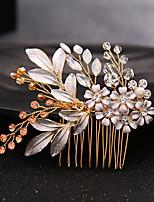 Rhinestone Alloy Headpiece-Wedding Special Occasion Hair Combs 1 Piece