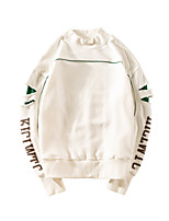 Men's Casual/Daily Sweatshirt Letter Round Neck strenchy Cotton Long Sleeve Spring Summer