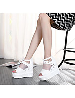 Women's Heels Spring Summer Slingback Light Up Shoes Canvas Silk Neoprene Wedding Outdoor Athletic Flat Heel Platform Feather Studded