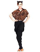 Latin Dance Tops Women's Performance Chiffon 1 Piece Short Sleeve Top