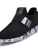 Men's Athletic Shoes Comfort PU Spring Fall Outdoor Comfort Flat Heel Gold White Black Flat