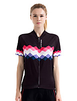Cycling Jersey Women's Short Sleeve Bike Sweatshirt Jersey Quick Dry Breathable Sweat-wicking Polyester Classic Summer White Black