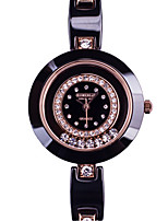 Women's Fashion Watch Quartz Ceramic Band Black White Rose Gold Black White Gold