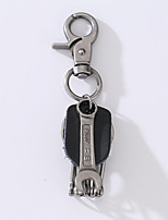 The New Punk Man's Vintage Cow Leather Alloy Key Ring Spanner Key Ring