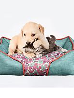 Кошка Собака Кровати Животные Коврики и подушки Мягкий Красный Синий