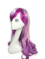 Парик радуги красочный парик длинные глубокие волны синтетического волокна парик
