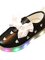 Girls' Flats Spring Summer Comfort PU Casual Flat Heel LED Blushing Pink Black White