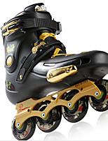 Damen Herrn Unisex Inline-Skates tragbar Wasserdicht Komfortabel Gold/Weiß/Purpur