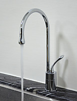 Contemporary Standard Spout Centerset Rotatable with  Ceramic Valve Single Handle One Hole for  Chrome , Kitchen faucet