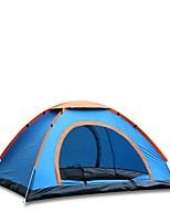 3-4 personnes Tente automatique Une pièce Tente de campingRandonnée Camping-Bleu
