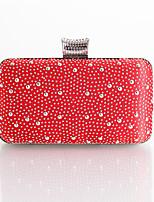 L.WEST Woman Fashion Diamonds Lace Evening Bag