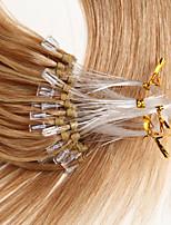 Человеческие волосы 0.5g / s выдвижения человеческих волос выдвижения человеческих волос микро- петли 22 дюймов прямые micro удлиняют 100s