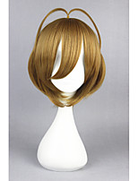 Short Cardcaptor Sakura Brown Synthetic 14inch Anime Cosplay Hair Wig CS-168A