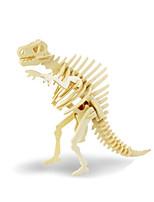 Puzzles Puzzles 3D Blocs de Construction Jouets DIY  Dinosaure Bois Maquette & Jeu de Construction