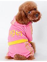 Собаки Плащи Футболка Одежда для собак Лето Весна/осень Мультфильмы Милые Мода Спорт Розовый Черный