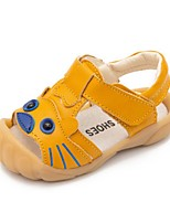 Girls' Sandals Summer First Walkers Cowhide Casual Flat Heel Yellow Black White
