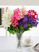 1PC 30 heads flower  Branch Polyester Plastic Others Tabletop Flower Artificial Flowers
