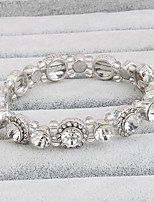 Women's Tennis Bracelet Crystal Movie Jewelry Crystal Circle Silver Jewelry For Wedding 1 Set