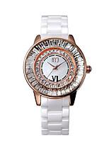 Женские Модные часы Кварцевый Керамика Группа Белый