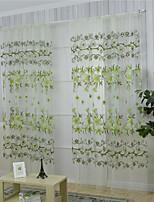 Jeden panel Window Léčba Země , Květiny Ložnice Polyester Materiál Sheer Záclony Shades Home dekorace For Okno