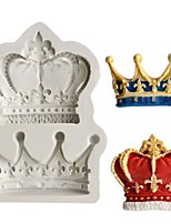 Random Color Crowns Form Princess Queen 3D Silicone Mold Fondant Cake Cupcake Decorating Tools Clay Resin Candy Fimo Super Mold DIY