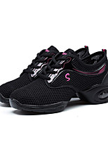 Non Customizable Women's Dance Shoes Leather Dance Sneakers Sneakers Low Heel Performance Black/Gold Pink/Black White