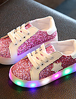 Kids Boys Girls' Sneakers Spring Fall Light Up Shoes First Walkers Luminous Shoe Leatherette Wedding Outdoor Casual Low Heel LED
