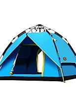 Double Tente automatique Une pièce Tente de campingRandonnée Camping Voyage-Bleu