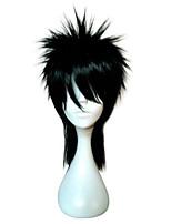 Perruque cosplay capless longueur moyenne droite haute température fibre synthétique cheveux perruques 2 couleurs