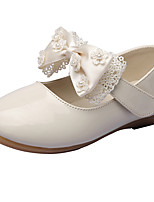 Girls' Flats Spring Fall Comfort Leatherette Wedding Outdoor Office & Career Party & Evening Dress Casual Flat Heel Bowknot Magic TapeRed