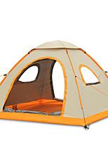 3-4 personnes Tente Unique Tente automatique Une pièce Tente de camping 2000-3000 mm Fibre de verre OxfordRésistant à l'humidité Etanche