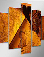 Art Print Abstract Modern,Five Panels Horizontal Print Wall Decor For Home Decoration