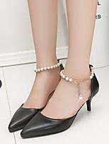 Women's Heels Spring Comfort PU Casual Blushing Pink Black White