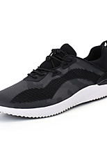 Men's Sneakers Spring Summer Comfort Fabric Outdoor Athletic Casual Flat Heel Lace-up Black/Red Gray Black