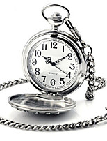 Men's Women's Pocket Watch Quartz Automatic self-winding Alloy Band Silver