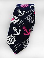 Men  Fashion Narrow Cotton Tie  (6CM)