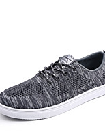 Hot Sale Man's Flyknit Tulle Shoes Lace-up Sneakers Light Soles Light Up Sneakers Spring / Summer Comfort  Outdoor / Office/ Funny Size EU 39-44