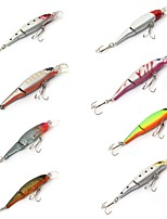 8 pcs Hard Bait Minnow Fishing Lures Hard Bait Minnow Lure Packs phantom Multicolored g/Ounce mm/3-1/2