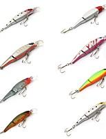 8 pcs Poissons nageur/Leurre dur Fretin leurres de pêche Poissons nageur/Leurre dur Fretin Kits de leurre Violet Multicolore g/Once mm/