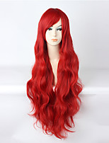 Cosplay Wigs Cosplay Cosplay Red Curly Anime Cosplay Wigs 85 CM Heat Resistant Fiber