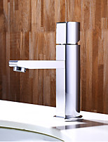 Contemporary Centerset Widespread with  Ceramic Valve Single Handle One Hole for  Chrome , Bathroom Sink Faucet