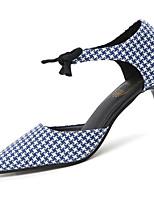 Women's Loafers & Slip-Ons Summer Comfort PU Outdoor Low Heel Lace-up Khaki Blue Black Walking