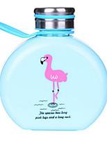Garrafa de suco de água de vidro portátil dos desenhos animados 300ml