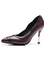 Women's Heels Spring Fall Comfort Leatherette Party & Evening Dress Casual Stiletto Heel Burgundy White