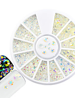 1pcs fashion nail art disque rond brillant strass transparent strass strass strass strass strass strass strass