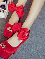 Mujer-Tacón Stiletto-Zapatos del club-Tacones-Informal-PU-Blanco Negro Rojo