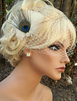 Hand Made Wedding Feather Hair Fascinator Headpieces Fascinators Headbands Hair Accessories Feather Wigs Accessories For Women 022