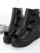 Женские каблуки ползучие синтетические случайные черные